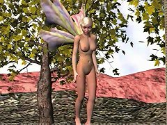 3d Animation Fairy And Dragon