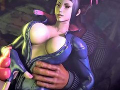 Street Fighter Juri Han Thigh Job Short
