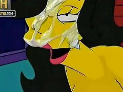Simpsons Porn Threesome Sunporno Uncensored